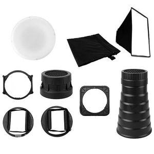 DIFFUSEUR DE FLASH 9 en 1 Flash Diffuseur Kit pour Flash Cobra Canon