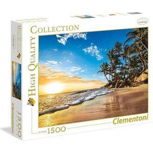 PUZZLE PUZZLE 1500 pièces - Coucher de soleil tropical -