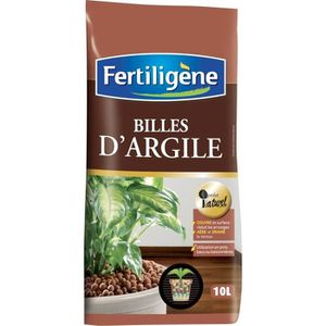 TERREAU - SABLE Billes d'argiles Fertiligène - Sac 10 l