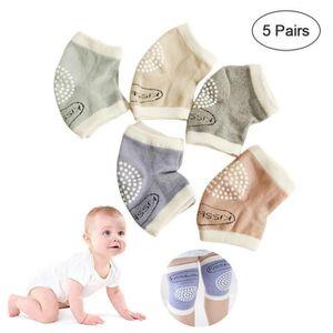 SODIAL Genouill/ères /à Ramper Pour B/éb/é En Coton Cinq Paires Jambi/ères Et Chaussettes Hautes
