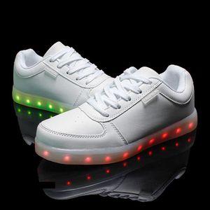 BASKET Mode LED allumée sneakers pour femmes ou hommes cu