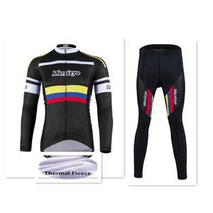 TENUE DE CYCLISME Sweat Veste Cyclisme Homme Hiver Thermique Fleece
