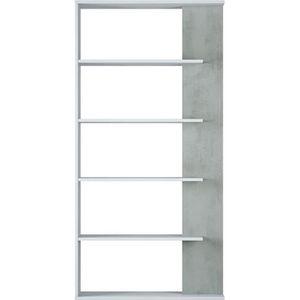 BIBLIOTHÈQUE  Bibliothèque avec 5 étagères coloris Blanc - Cimen