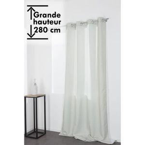 RIDEAU Rideau à Oeillets 140 x 280 cm Grande Hauteur Styl