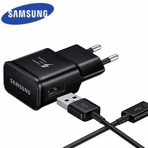 CHARGEUR TÉLÉPHONE Samsung Chargeur secteur rapide noir USB Type C -