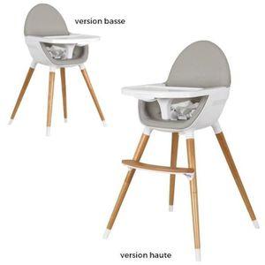 CHAISE HAUTE  TANUKI Chaise haute Ergonomique - Bois - Blanc