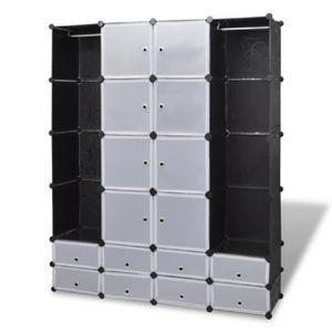 ARMOIRE DE CHAMBRE Cabinet modulable avec 18 compartiments pour range