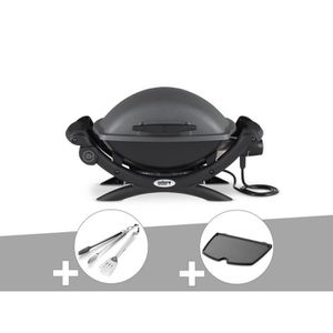 BARBECUE Barbecue électrique Weber Q 1400 + Kit Ustensile +