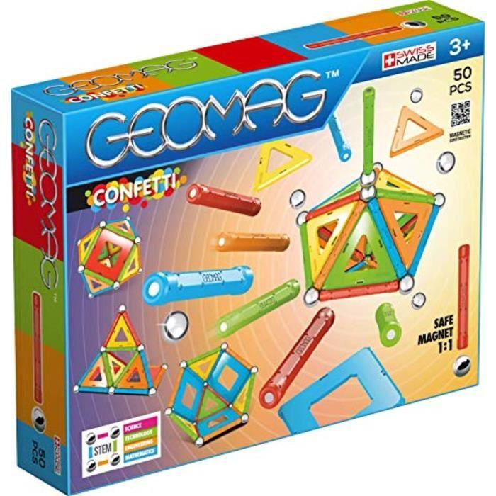 Jeu D'Assemblage DJYIS 352 Confetti Construction Toy, multicolore, 50 pièces