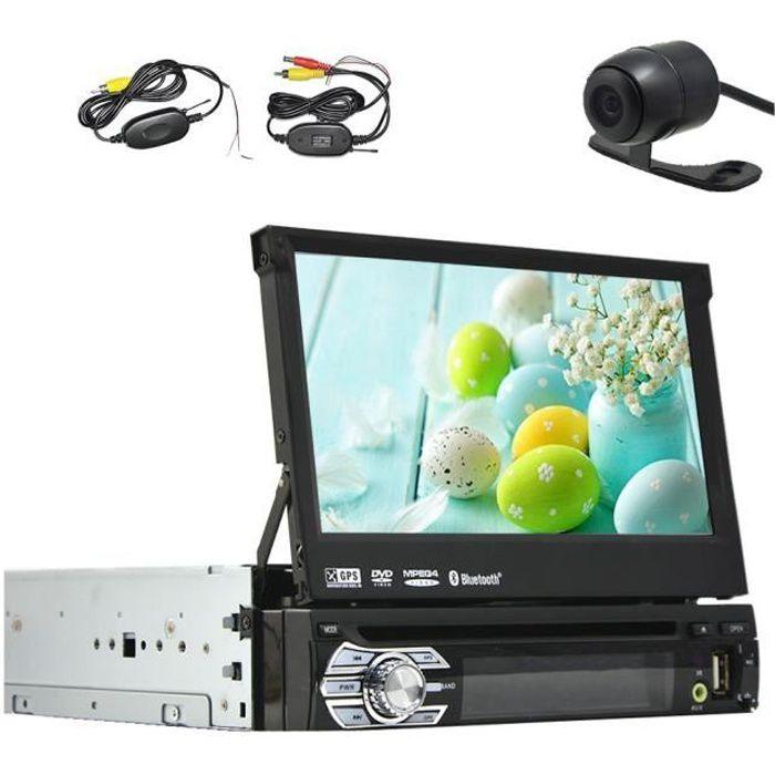 Caméra arrière sans fil comprend! 7- Touch écran amovible de voiture Bluetooth GPS Autoradio GPS DVD de voiture Lecteur CD Wince