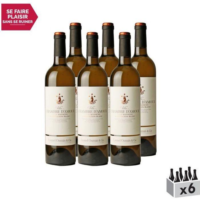 Villa Chambre d'Amour Blanc 2019 - Lot de 6x75cl - Lionel Osmin & Cie - Appellation VDF Vin de France doux - Origine Sud-Ouest -