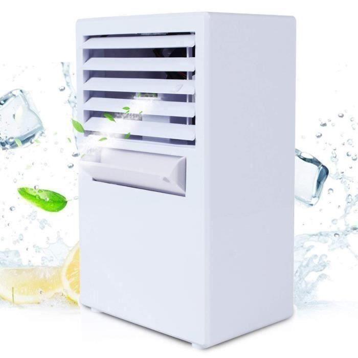 climatiseur mobile silencieux Troisième génération,Affichage numérique de la température climatiseur avec Sac de glace et Adaptate