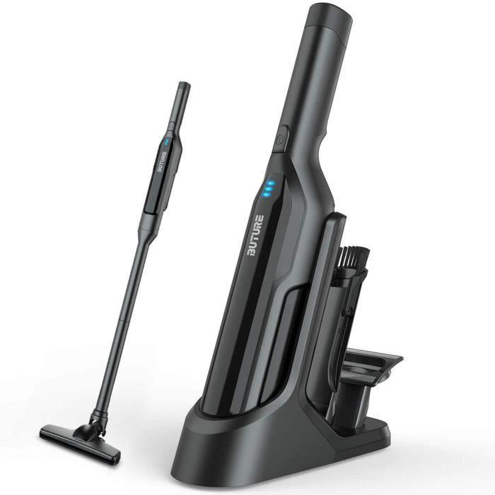 Aspirateur à Main Sans Fil,Aspirateur Voiture 17000Pa avec Lumières Led et USB Rechargeable,Aspirateur de Table pour Voiture-Ma A21
