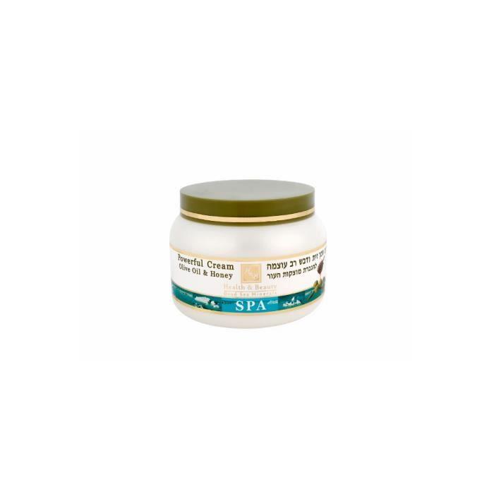 Mer Morte cosmétique - Health and Beauty Dead Sea Minerals - Crème puissante à lhuile dolive et au miel - 250 ml
