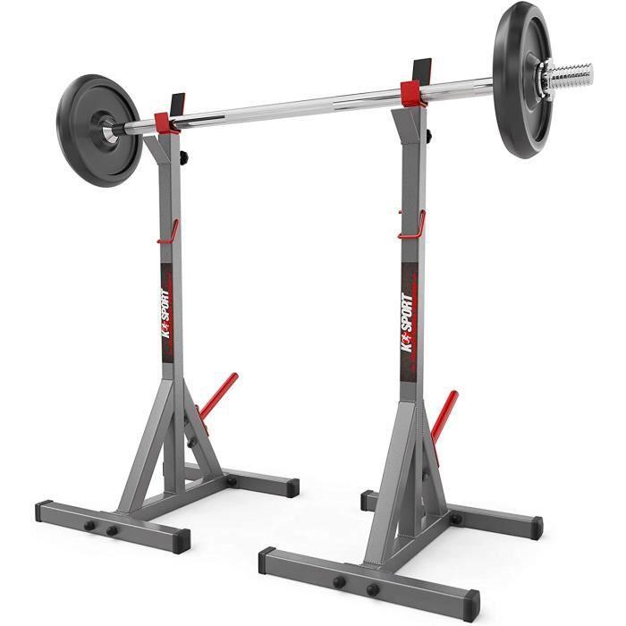 BANC DE MUSCULATION K-Sport Support pour barre de musculation r&eacuteglable153