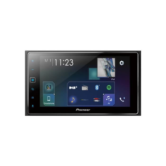 Pioneer Voiture Multimedia Autoradio USB/Bluetooth, Noir