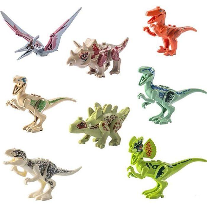 8pcs Blocs de Construction de Dinosaure Jouet pour Enfants, Jouets de Dinosaure, Assemblage Jouet