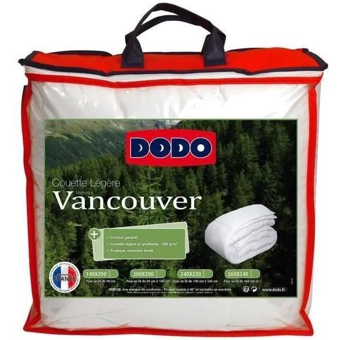 DODO Couette légère Vancouver - 140 x 200 cm - Blanc