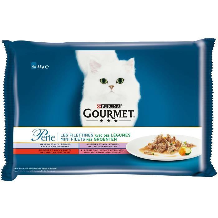 GOURMET Filettines légumes pour chats 4 x 85 g