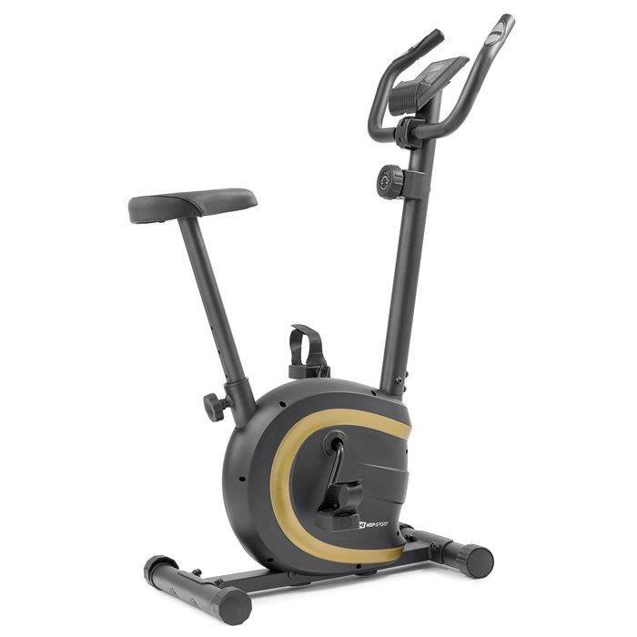 HOP-SPORT Vélo d'appartement HS-015H Vox – Roue d'inertie de 5 kg - Max 120 KG – vélo d'appartement en acier (Doré)