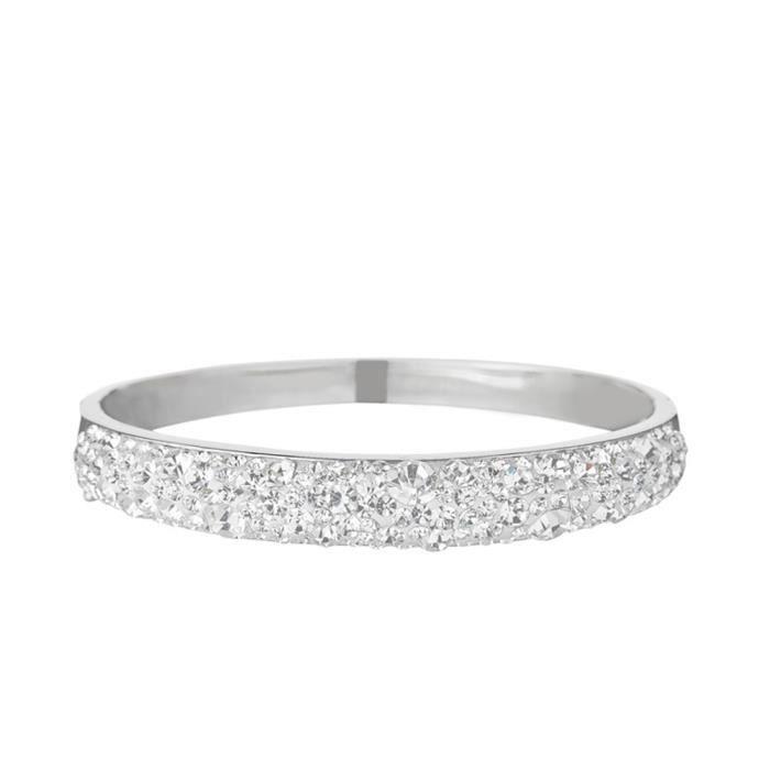 Mes-bijoux.fr - Bracelet Femme Métal Argenté et ornée de Cristaux de Swarovski Element - WRI3Cry8gv