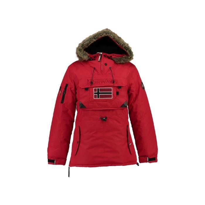 GEOGRAPHICAL NORWAY Parka Bougie 005 - Femme - Rouge