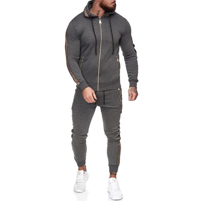 Survêtement homme fashion Survêt 1424 gris fonce S