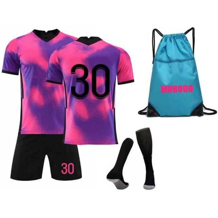 21-22 saison Maillot de football, Ensemble Adulte et Enfants + Chaussettes Sac de foot, Maillot d'entraînement 30 - Rouge
