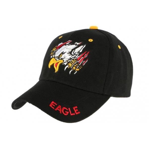 Casquette baseball Noire Aigle - Noir - Taille unique