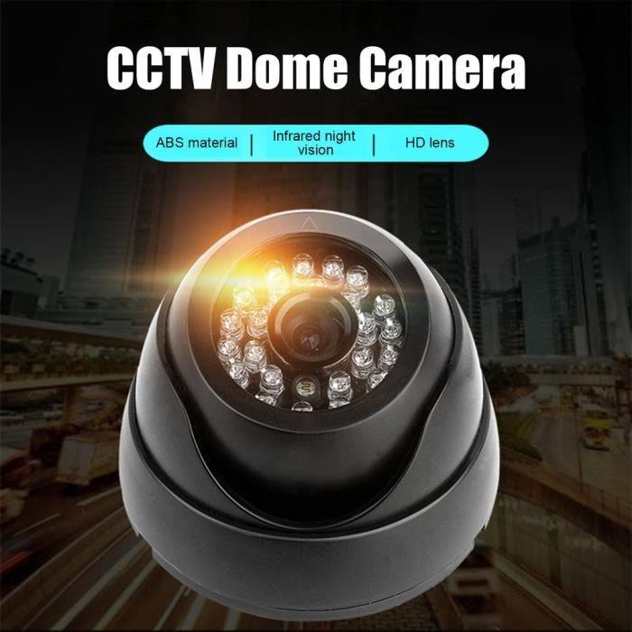 Aetw Caméra de surveillance coaxiale A720P 1080P de caméra de vidéosurveillance de nuit de sécurité étanche extérieure 24Led