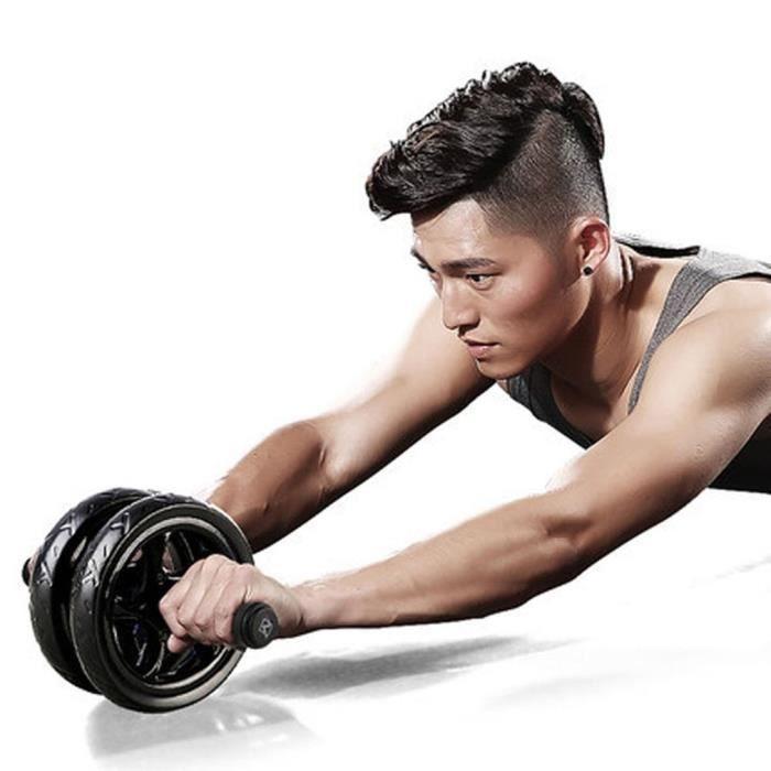 Roue Abdominale AB Wheel Roller Ab rouleau pour équipement de remise en forme d'exercice Carver roue d'entraînement abdominale