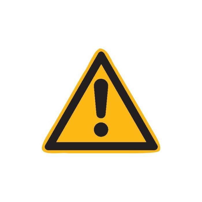 Panneau d'avertissement Alu Danger SL 200mm