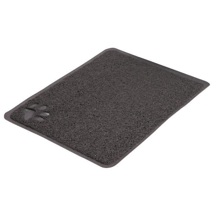 TRIXIE Tapis pour bac à litière PVC - 37x45 - Anthracite - Pour chat