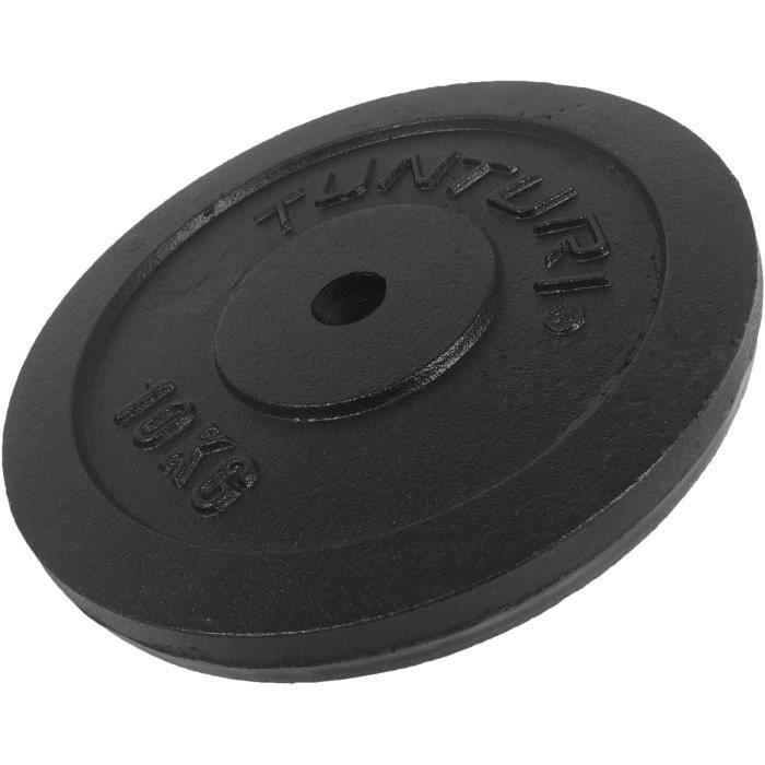 TUNTURI Disque musculation 10kg noir, unité