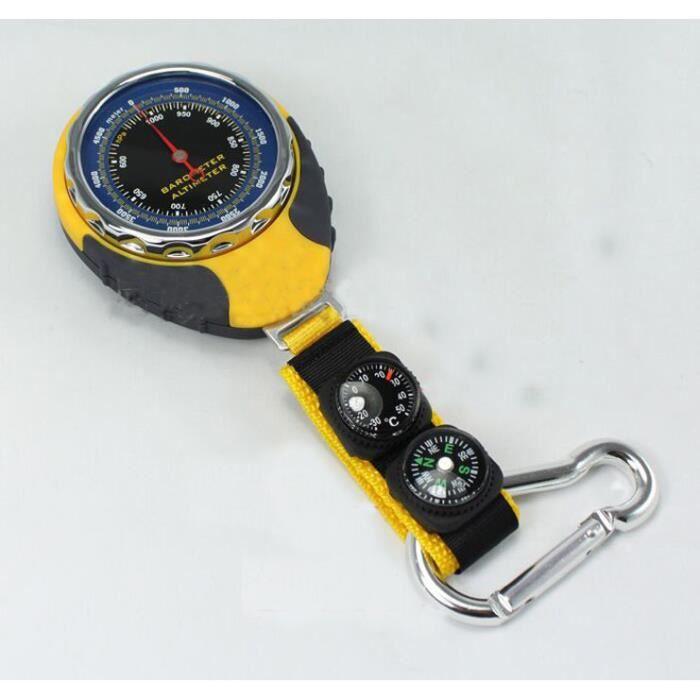 Multifonction Altimètre/Barométrographe/Thermomètre/Boussole Avec Crochet Métallique