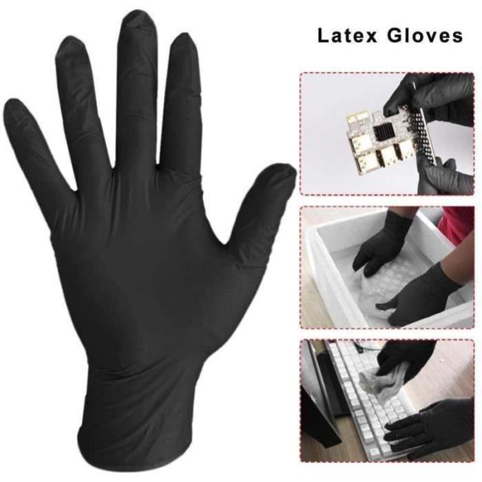 XM14238-100 PCS gants jetables, gants de protection, noir L