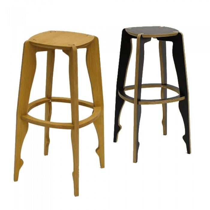 tabouret de bar design ballerina couleur noir m achat vente tabouret noir cdiscount. Black Bedroom Furniture Sets. Home Design Ideas