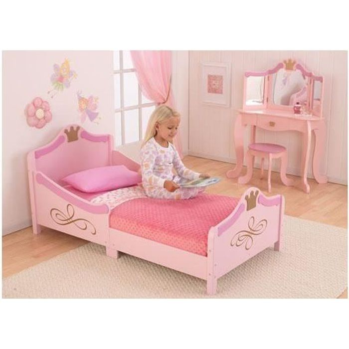 lit tra neau pour petite fille motif princesse achat. Black Bedroom Furniture Sets. Home Design Ideas