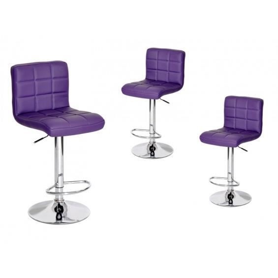 milow lot de 3 tabourets violet achat vente tabouret. Black Bedroom Furniture Sets. Home Design Ideas