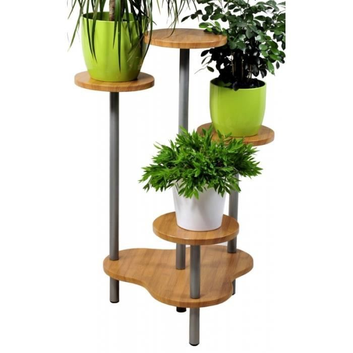 support multiple pour 4 plantes hauteur 75 cm fa on bambou achat vente meuble support. Black Bedroom Furniture Sets. Home Design Ideas