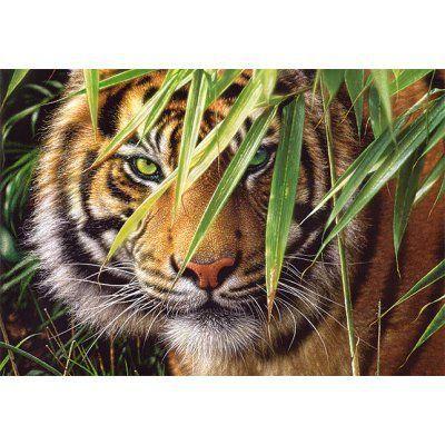 PUZZLE Puzzle 1500 pièces - Tigre : A l'affût