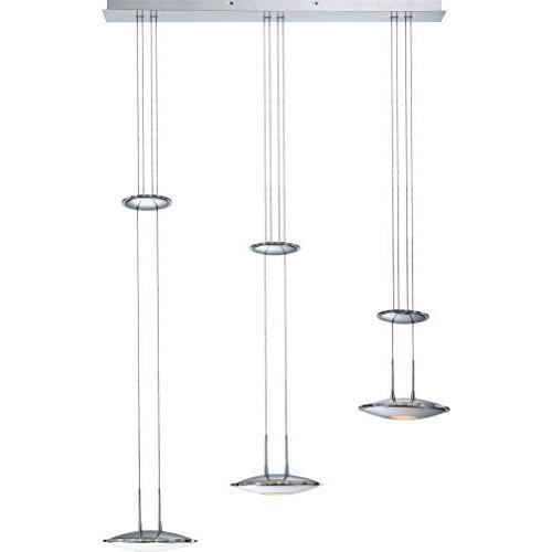 Globo 68018 3 suspension 3 lampes led hauteur r glable for Suspension 3 lampes