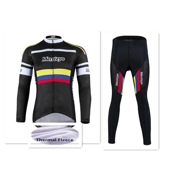 Sweat Veste Cyclisme Homme Hiver Thermique Fleece Maillot de