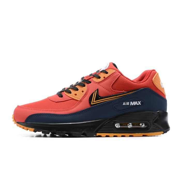 Baskets Nike Air Max 90 Chaussures de running pour Homme Rouge ...