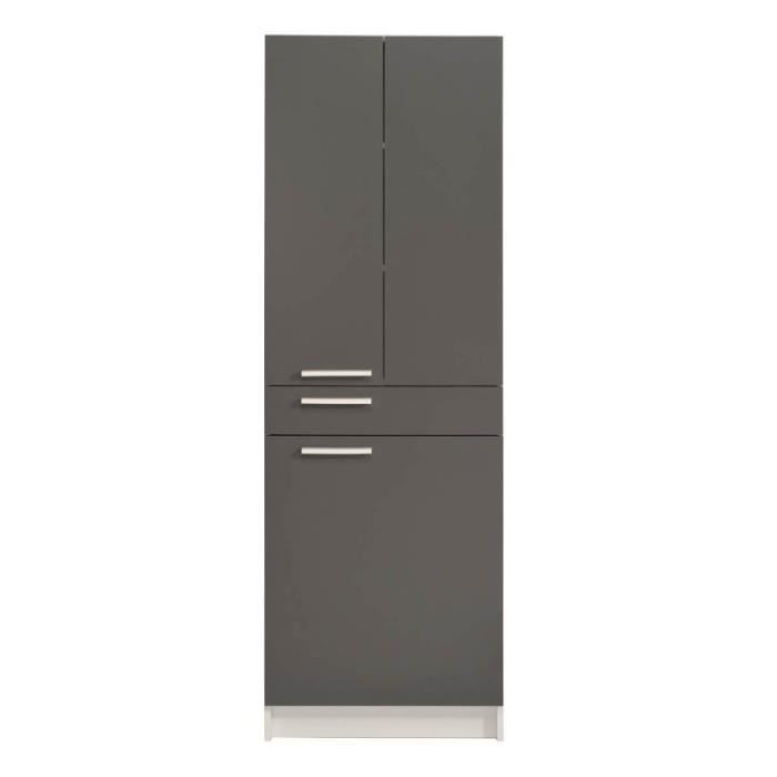 paris prix colonne salle de bain verzak 184cm gris. Black Bedroom Furniture Sets. Home Design Ideas