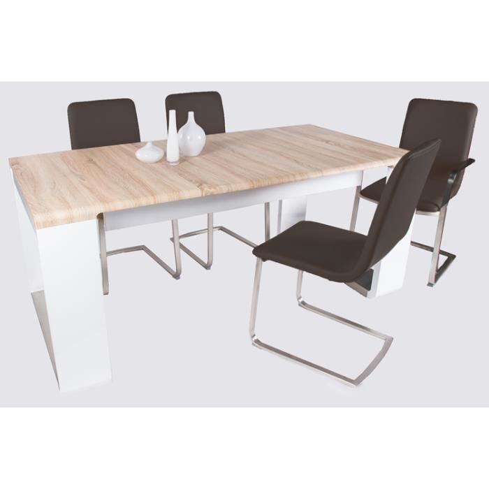 Table de salle manger bela coloris sonoma ch achat vente table a ma - Table and co vente en ligne ...