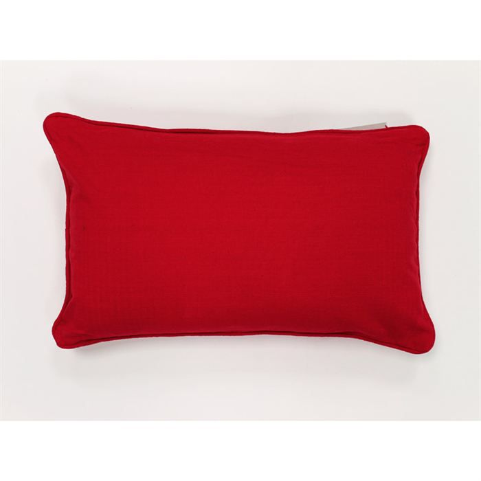 coussin rectangulaire connexion rouge achat vente coussin cdiscount. Black Bedroom Furniture Sets. Home Design Ideas
