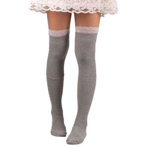 1//3//6 X Paires Femmes//Femme Rayé Sur Le Genou Chaussettes robe Fantaisie Taille 4-7