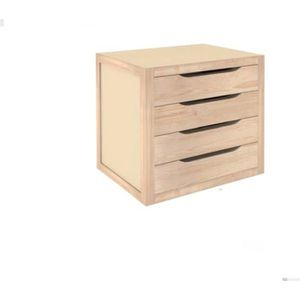 MEUBLE CLASSEMENT Astigarraga - Bloc 4 tiroirs bois 37.5x39x30cm