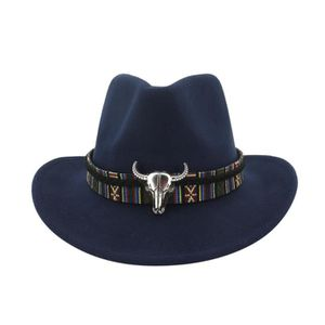 CHAPEAU - BOB chapeau MarineHiver hommes et chapeau de cowboy ti